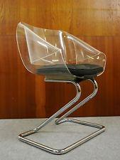 Harvey Guzzini Acryl Stuhl-Chair 1968 Panton-Eames Ära Designklassiker