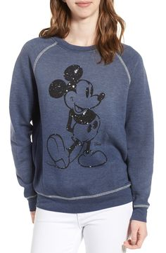 New Junk Food Mickey Mouse Sweatshirt SAFARI GREEN fashion online. [$95] new offer from Thenewoffer<<