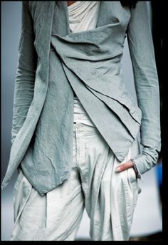 2nd-ish pin, delicious palette, pleat shapes, fabric weight, and drape - Urban Zen ~ Donna Karan