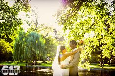 Beautiful first look in the Boston Public Garden. Photo from John LoConte Beautiful One, Beautiful Moments, Boston Public Garden, Natural Light, That Look, Sunshine, Wedding Photography, In This Moment, Weddings