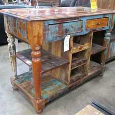 Reclaimed Wood Glass Cabinet. Has a space for wine bottles too. #SoutheasternSalvage #HomeEmporium #homedecor