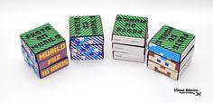 Scrap Festa Minecraft: convite cubo mágico