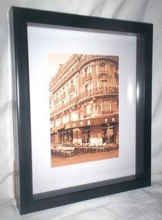 Toronto: Paris Cafe sepia photo set in deep black frame $15 - http://furnishlyst.com/listings/114323