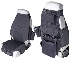 All Things Jeep - Black Neoprene Seat Vest by Rugged Ridge for Jeep Wrangler JK (2007-2013)