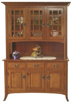 Luxury Cherry Wood Buffet Cabinet