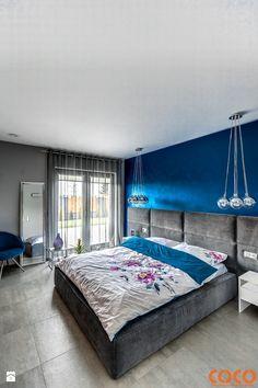 Dom w szarościach - zdjęcie od COCO Pracownia projektowania wnętrz Inside Design, Kitchen Design, Loft, Bedroom, House, Furniture, Home Decor, Yurts, Decoration Home