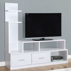 Shop a great selection of Monarch Specialties I 2697 A Display Tower TV Stand, 60 , White. Find new offer and Similar products for Monarch Specialties I 2697 A Display Tower TV Stand, 60 , White. White Tv Cabinet, Tv Stand Cabinet, Living Room Tv, Living Room Furniture, White Tv Stands, Rack Tv, Tv Shelf, Tv Unit Design, Family Room Design