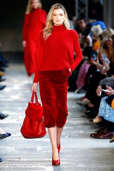 Trending Red Hot: The Best Red Looks from the Fall 2017 Season - Max Mara from InStyle.com