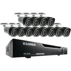 Lorex by FLIR LHV10162TC12B 16-Channel 720p HD DVR with 12 Bullet Cameras. 720p HD ;  Real-time recording at 30fps per channel ;  24/7 security-grade hard drive;  Continuous, scheduled & motion-triggered recording;  H.264 video compression ;  Supports PTZ cameras with remote control via app;  Accurate time stamps with NTP & Daylight Saving Time ;  Digital zoom in live view & playback ;  HDMI(R) & VGA outputs ;  Instant USB backup of live video ;  Auto firmware upgrade ;  3-step remote view…