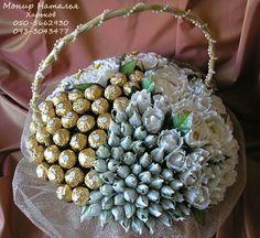 Gallery.ru / Фото #2 - Свадебные букеты из конфет - monier