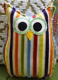 Owl Pillow via Etsy- Button Bird Designs