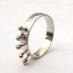 Crown Ringsterling silver by mujoyas on Etsy, $39.00