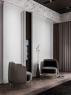 Modern Classic Interior, Modern Interior Design, Residential Interior Design, Interior Architecture, Neoclassical Interior, Piece A Vivre, Luxurious Bedrooms, Apartment Design, Living Room Designs