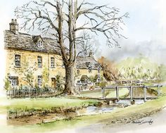 Lower Slaughter, Cotswold, Gloucestershire - Art Gallery