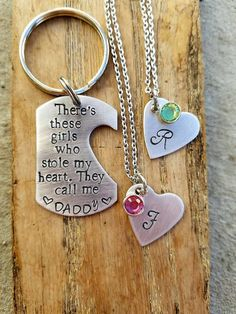 Hey, I found this really awesome Etsy listing at https://www.etsy.com/listing/280641278/daddydaughter-keychain-for-two-girls