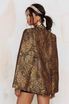 Nasty Gal Go for Baroque Cape Blazer - Newly Added
