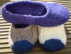 Duffers Felted Slippers Original Pattern