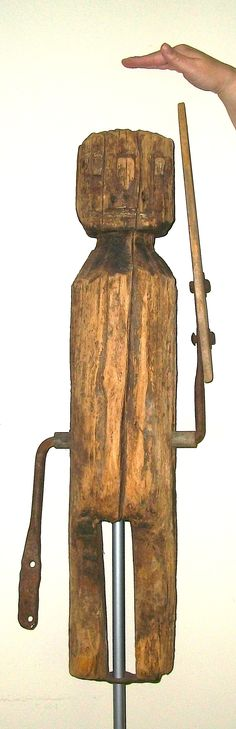 HUGE, Whirligig, 19th century, Folk Art,  Kentucky, circa 1860, Collection,  Jim Linderman,  Dull Tool Dim Bulb, sculpture, carving,