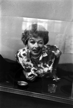 A previously unpublished photo of Lucille Ball from 1958, on the set of the Lucy-Desi (Arnaz) Comedy Hour. Photo: Life Magazine. ☚