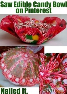 edible candy bowl, nailed it. Cooking Fails, Food Fails, Pinterest Crafts, Pinterest Recipes, Pinterest Food, Looks Yummy, Looks Cool, Pintrist Fails, Christmas Humor