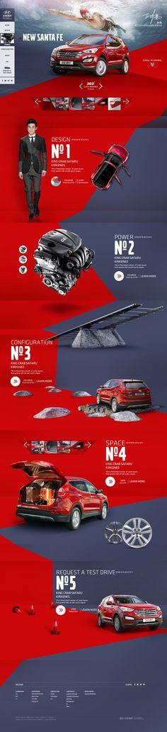 GM inspiration -- Santa Fe on Behance Web Design: