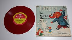Vintage Record Guild of America Frosty the Snowman Red Vinylite 78 Record by CowsintheFog on Etsy 78 Records, Vintage Records, Frosty The Snowmen, Snowman, Kids Songs, Fans, Relax, America, Children