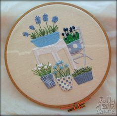 Spring in Blue Embroidery