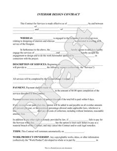 interior design contract template