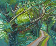 Landscape Paintings and photographs Picture Description Grim's Ditch oil painting by Anna Dillon Abstract Landscape, Landscape Paintings, Tree Art, Artist Art, Les Oeuvres, Painting Inspiration, Art Photography, Decoration, Landscaping Software