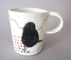 Porcelain bird tea cup