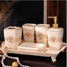 WYMBS Christmas gift simple Europeanstyle Resin bathroom toiletriesD
