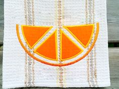 Citrus Slice Applique Embroidery Design INSTANT DOWNLOAD for DIY projects, from Designed by Geeks. Use any embroidery machine - Brother, Viking, Janome, Bernina, Pfaff, Singer - to stitch this design.  This is a machine applique design of a slice of citrus fruit. Depending on your color choices, it could be an orange, lemon, lime, or grapefruit slice. Orange you glad you have so many options?