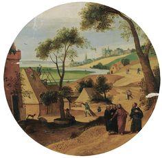 Abel Grimmer (Anvers vers 1570 - 1618/19), Six mois de l'année : juillet