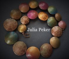 Polymer clay necklace from Julia Peker