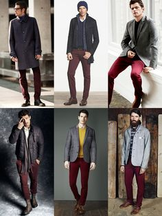 Here is Burgundy Pants Outfit Mens Picture for you. Burgundy Pants Outfit Mens how to wear a navy blazer with burgundy pants Burgundy Jeans Outfit, Red Trousers Outfit, Chinos Men Outfit, Trouser Outfits, Vest Outfits, Burgundy Pants Men, Red Pants Men, Burgundy Chinos, Maroon Pants