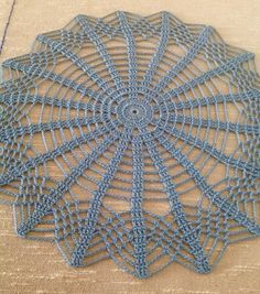 I just finished crocheting this beautiful gift doily it is 11 inches perfect round shaped i used size 10 l delft blue cotton thread it is ironed not starched thanks for visiting ~ florida homes decor living room 15 best decoration ideas Delft, Lace Doilies, Crochet Doilies, Crochet Lace, Crochet Table Runner, Crochet Tablecloth, Doily Patterns, Crochet Patterns, Interior Room Decoration