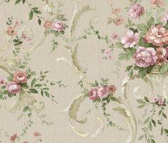 romantisch engels bloemen behang klassiek goud