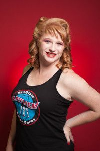 Red Stiletto #75 2016 MMRD Skaters Head Shots | Midstate Mayhem Roller Derby & The Studio on the Square