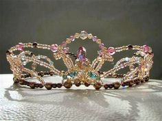 "Another exclusive jewel only available at Dancewear by Patricia. This tiara is entirely hand made using Swarovsky crystals. Suitable for the role of Dulcinea and matching our ""Dulcinea Dream Scene"" pr"