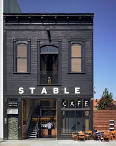 Stable Cafe - San Francisco - love the black exterior