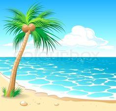 Vector of 'Tropical beach Vector'
