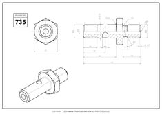 3D CAD EXERCISES 735 - STUDYCADCAM Cad Drawing, Mechanical Design, Drawing Practice, 3d Modeling, Autocad, 2d, Exercises, Engineering, Drawings