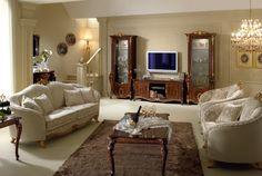 Ekskluzywne meble do salonu, meble i szafki rtv, witryny, sofy Donatello