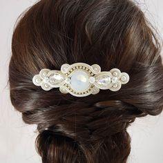 Soutache Jewelry, Beaded Jewelry, Handmade Jewelry, Sculpey Clay, Glamorous Hair, Beaded Brooch, Hair Vine, Hair Comb, Shibori