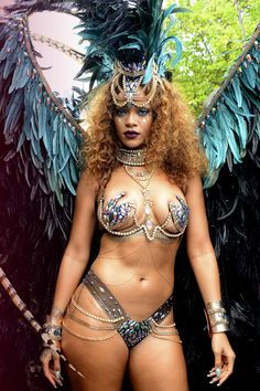 Rihanna at the Kadooment Day Festival in Barbados for Crop Over 2015