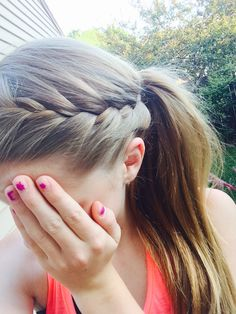 Super Braids Ponytail Hairstyles For Sports Pony Tails 67 Ideas Super Braids Pferdeschwanz Frisuren Volleyball Hairstyles, Gym Hairstyles, Braided Ponytail Hairstyles, Hairstyles For School, Volleyball Braids, Camping Hairstyles, Athletic Hairstyles, Braided Buns, Hairstyles Videos