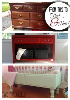 Two It Yourself: Dresser Drawer to Storage Box {Easy DIY Project} - 1 dresser into 2 projects + chalk paint recipe