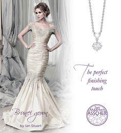 Gorgeous Ian Stuart gown, fabulous JMAsscher diamonds.