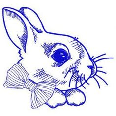 White bunny 5 machine embroidery design. Machine embroidery design. www.embroideres.com
