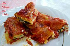 I cannelloni ricotta e spinaci, sono un piatto molto saporito e leggero, ripieni di ricotta e spinacie conditi con un sugo semplice di pomodoro.